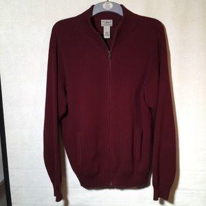 LL Bean Burgundy zippered Sweater
